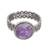 Amethyst cocktail ring, 'Amethyst Power' - Natural Amethyst Cocktail Ring from Peru (image 2a) thumbail
