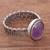 Amethyst cocktail ring, 'Amethyst Power' - Natural Amethyst Cocktail Ring from Peru (image 2b) thumbail