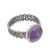 Amethyst cocktail ring, 'Amethyst Power' - Natural Amethyst Cocktail Ring from Peru (image 2c) thumbail