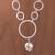 Sterling silver link necklace, 'Playful Rings' - Modern Sterling Silver Link Necklace from Peru (image 2) thumbail