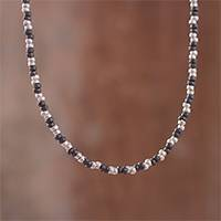 Sterling silver beaded necklace, 'Infinite Choices'