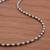Sterling silver beaded necklace, 'Infinite Choices' - Combination Finish Sterling Silver Beaded Necklace from Peru (image 2c) thumbail