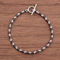 Sterling silver beaded bracelet, 'Infinite Choices'