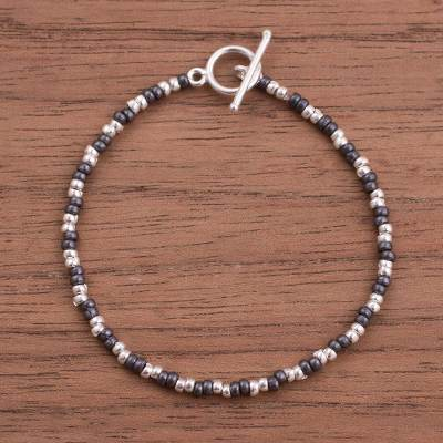 Sterling silver beaded bracelet, Infinite Choices