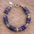 Sodalite beaded bracelet, 'Cool Universe' - Natural Sodalite Beaded Bracelet from Peru (image 2) thumbail