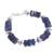 Sodalite beaded bracelet, 'Cool Universe' - Natural Sodalite Beaded Bracelet from Peru thumbail