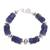 Sodalite beaded bracelet, 'Cool Universe' - Natural Sodalite Beaded Bracelet from Peru (image 2b) thumbail