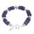 Sodalite beaded bracelet, 'Cool Universe' - Natural Sodalite Beaded Bracelet from Peru (image 2c) thumbail