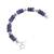 Sodalite beaded bracelet, 'Cool Universe' - Natural Sodalite Beaded Bracelet from Peru (image 2d) thumbail