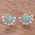 Opal button earrings, 'Bauble Delight' - Round Opal Button Earrings Crafted in Peru (image 2) thumbail