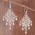 Cultured pearl filigree chandelier earrings, 'Beautiful Gala' - Cultured Pearl Filigree Chandelier Earrings from Peru (image 2) thumbail