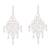 Cultured pearl filigree chandelier earrings, 'Beautiful Gala' - Cultured Pearl Filigree Chandelier Earrings from Peru thumbail