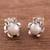 Cultured pearl filigree stud earrings, 'Tulip Glow' - Cultured Pearl Filigree Stud Earrings from Peru thumbail