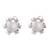 Cultured pearl filigree stud earrings, 'Tulip Glow' - Cultured Pearl Filigree Stud Earrings from Peru (image 2a) thumbail