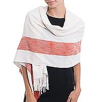 Baby alpaca blend shawl,