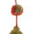 Wool ornaments, 'Joy of Spring' (pair) - Artisan Crafted Floral Wool Ornaments from Peru (Pair) (image 2c) thumbail