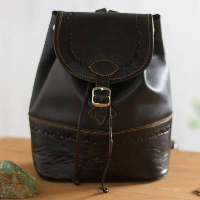 Leather backpack, Machu Picchu Journey