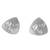 Sterling silver button earrings, 'Abstract Ovals' - Abstract Sterling Silver Button Earrings from Peru (image 2a) thumbail
