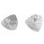 Sterling silver button earrings, 'Abstract Ovals' - Abstract Sterling Silver Button Earrings from Peru (image 2e) thumbail