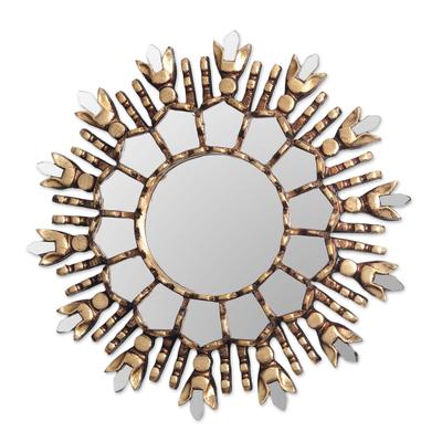 Artisan Crafted Cedar Wood Wall Accent Mirror