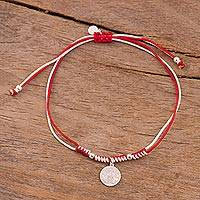 Sterling silver charm bracelet, 'Peruvian Shield' - Sterling Peruvian Coat of Arms Charm Bracelet