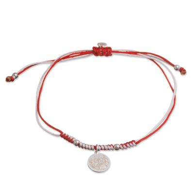 Sterling silver charm bracelet, 'Peruvian Shield' - Sterling Peruvian Coat of Arms Charm Bracelet