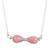 Opal pendant necklace, 'Pink Infinity' - Pink Opal Pendant Necklace Crafted in Peru thumbail