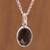 Obsidian pendant necklace, 'Lovely Facet' - Faceted Onyx Pendant Necklace from Peru thumbail
