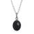Obsidian pendant necklace, 'Lovely Facet' - Faceted Onyx Pendant Necklace from Peru (image 2a) thumbail