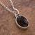 Obsidian pendant necklace, 'Lovely Facet' - Faceted Onyx Pendant Necklace from Peru (image 2b) thumbail