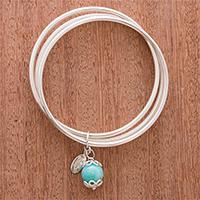 Amazonite bangle bracelet,