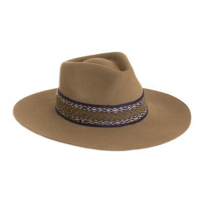 Peruvian Alpaca and Wool Blend Felt Hat in Taupe
