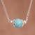Amazonite pendant necklace, 'Magic Rings' - Amazonite Pendant Necklace Crafted in Peru (image 2) thumbail