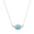 Amazonite pendant necklace, 'Magic Rings' - Amazonite Pendant Necklace Crafted in Peru thumbail