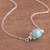 Amazonite pendant necklace, 'Magic Rings' - Amazonite Pendant Necklace Crafted in Peru (image 2b) thumbail