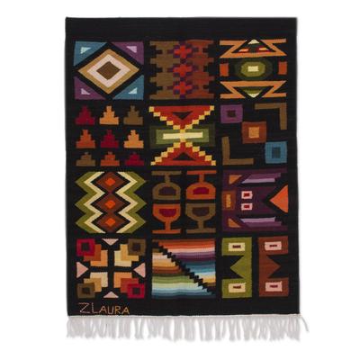 Geometric Wool Tapestry from Peru