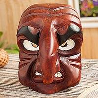 Wood mask, 'Angry Huaconada' - Angry Huaconada Dance Wood Mask from Peru