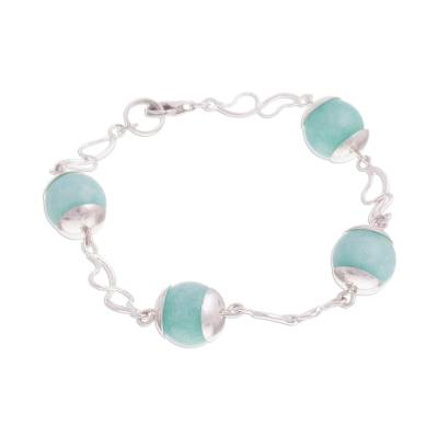 Natural Amazonite Link Bracelet from Peru