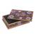 Reverse-painted glass decorative box, 'Margarita Bliss in Pink' - Purple and Pink Reverse-Painted Glass Decorative Box (image 2d) thumbail