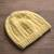 100% alpaca hat, 'Buttercup Glam' - Hand-Knit 100% Alpaca Hat in Buttercup from Peru (image 2b) thumbail