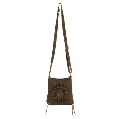 Handcrafted Suede Sling in Olive from Peru
