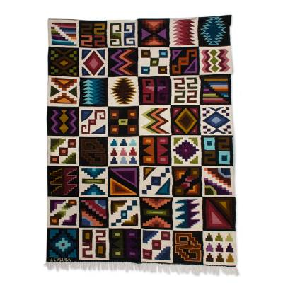 Handwoven Wool Tapestry Inspired by the Inca from Peru