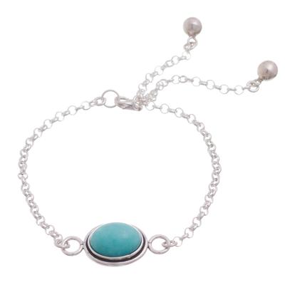 Oval Amazonite Pendant Bracelet from Peru