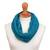 Alpaca blend neck warmer, 'Divine Warmth in Teal' - Alpaca Blend Neck Warmer in Solid Teal from Peru thumbail