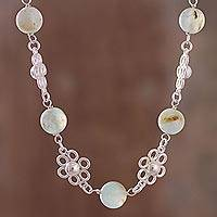 Opal link necklace, 'Elegant Andes' - Natural Opal Link Necklace from Peru