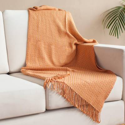 Alpaca blend throw, 'Fantastic Combination' - Bright Alpaca Blend Throw from Peru