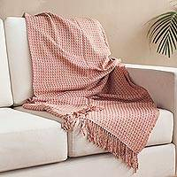 Alpaca blend throw, 'Enchanting Combination' - Warm Alpaca Blend Throw Crafted in Peru