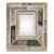 Reverse-painted wall mirror, 'Fantastic Floral' - Silver-Tone Reverse-Painted Glass Wall Mirror from Peru (image 2a) thumbail