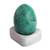 Chrycocolla gemstone figurine, 'Cute Egg' - Egg-Shaped Chrysocolla Gemstone Figurine from Peru (image 2a) thumbail