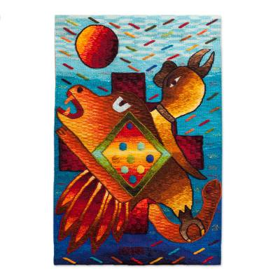 Handwoven Alpaca Blend Inca Trilogy Tapestry from Peru